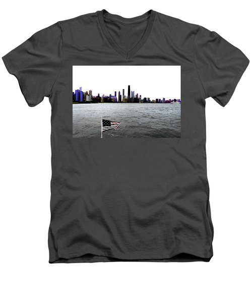 American Chi 3 Men's V-Neck T-Shirt