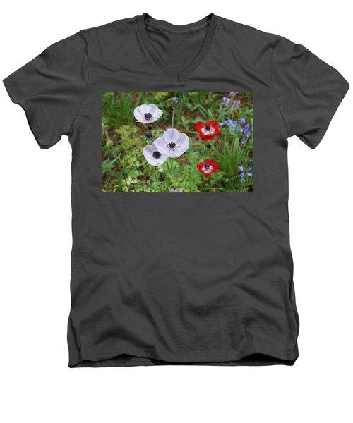 American Flowers Men's V-Neck T-Shirt