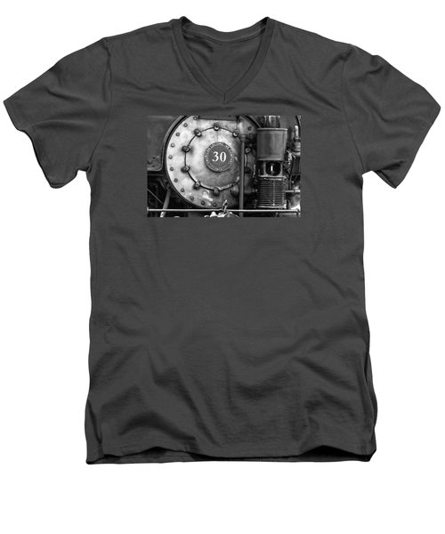 American Locomotive Company #30 Men's V-Neck T-Shirt