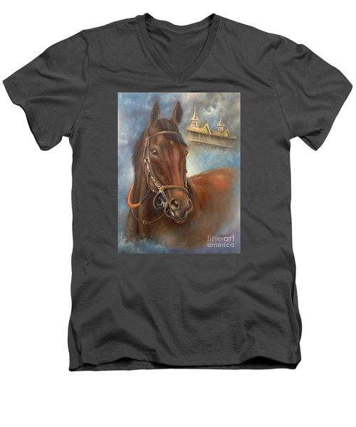 American Pharoah Men's V-Neck T-Shirt by Patrice Torrillo