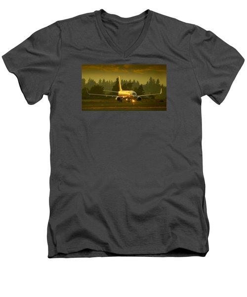 American Ready For Take-off Men's V-Neck T-Shirt