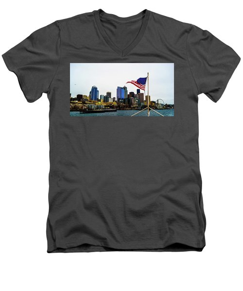American Seattle Ic Men's V-Neck T-Shirt