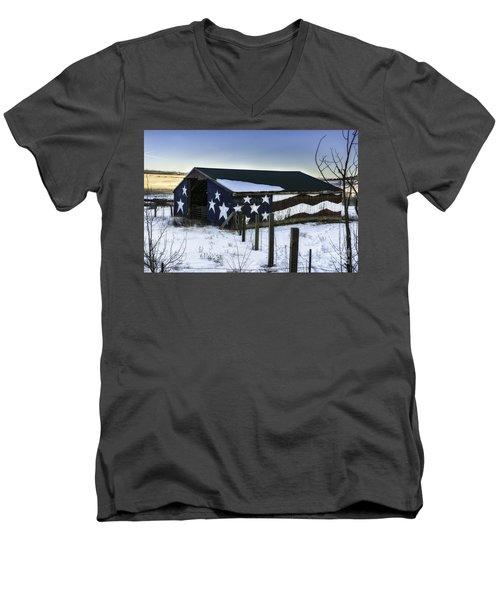 American Snow  Men's V-Neck T-Shirt