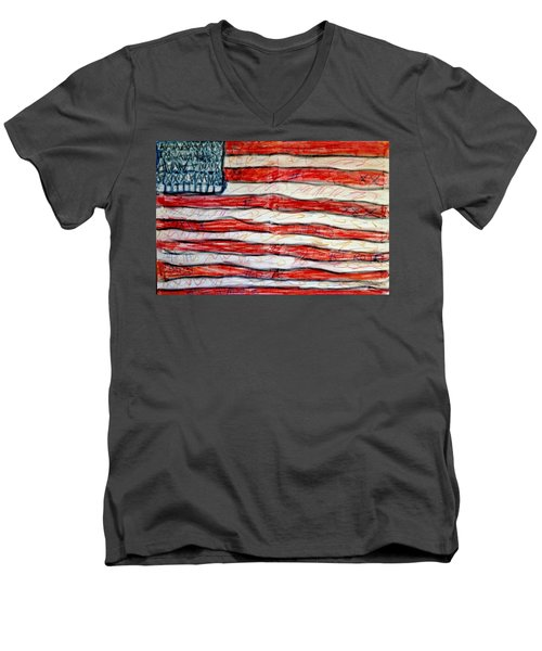 American Social Men's V-Neck T-Shirt