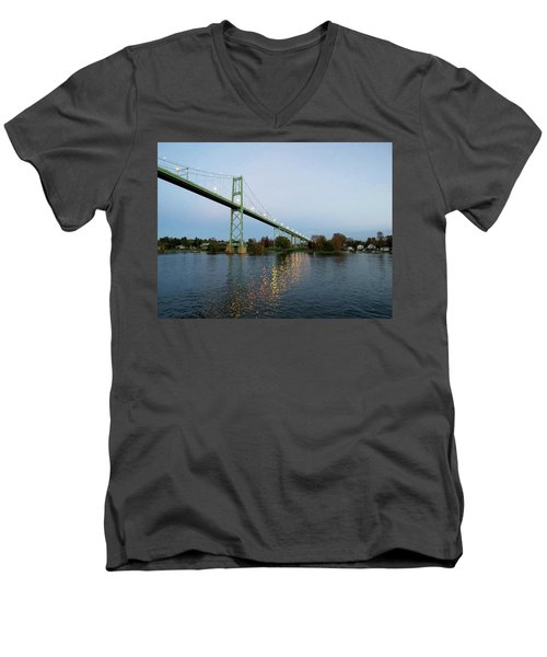 American Span Thousand Islands Bridge Men's V-Neck T-Shirt