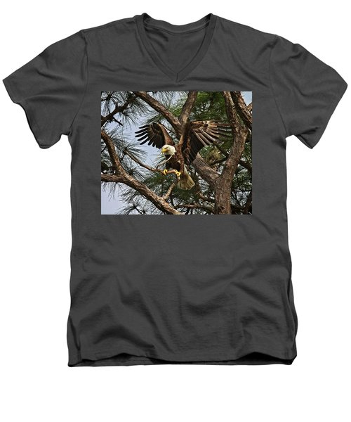 America's Bird Men's V-Neck T-Shirt