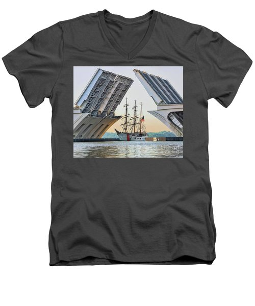 America's Tall Ship Men's V-Neck T-Shirt