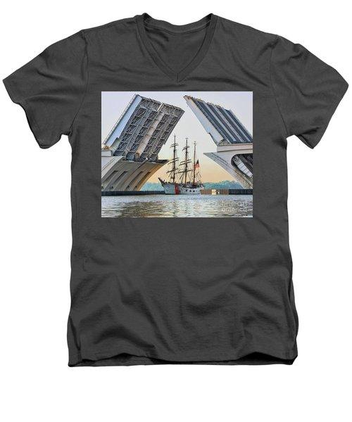 America's Tall Ship Men's V-Neck T-Shirt