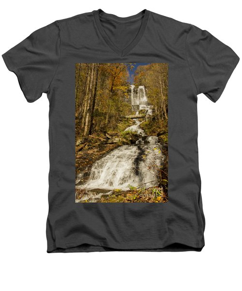 Amicola Falls Gushing Men's V-Neck T-Shirt