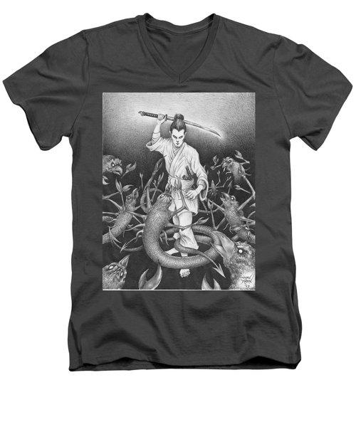 Amikiri Men's V-Neck T-Shirt