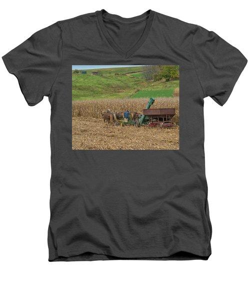 Amish Harvest In Ohio  Men's V-Neck T-Shirt