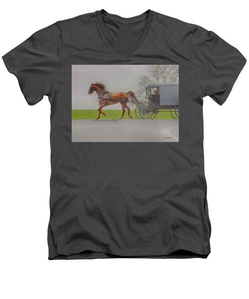 Amish Sunday Ride Men's V-Neck T-Shirt