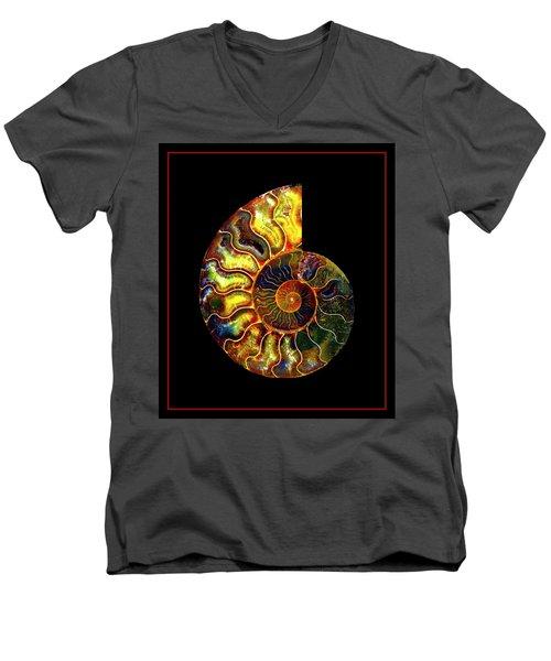 Ammonite Fossil - 8322-3 Men's V-Neck T-Shirt