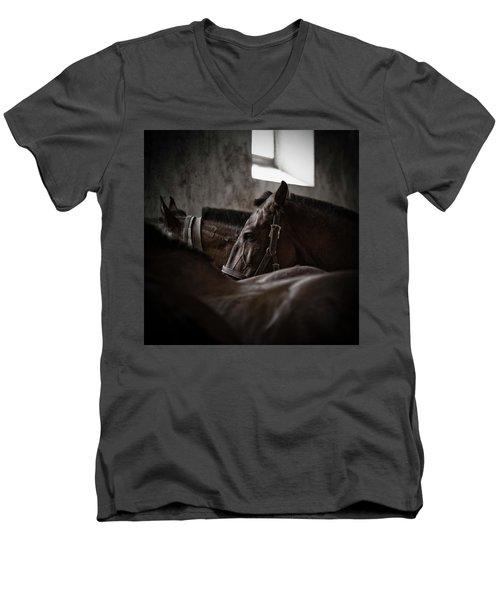 Among Others Men's V-Neck T-Shirt by Edgar Laureano
