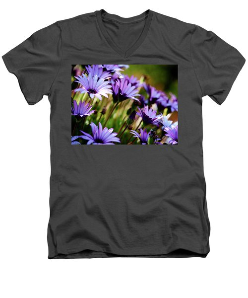 Among The Flowers Men's V-Neck T-Shirt