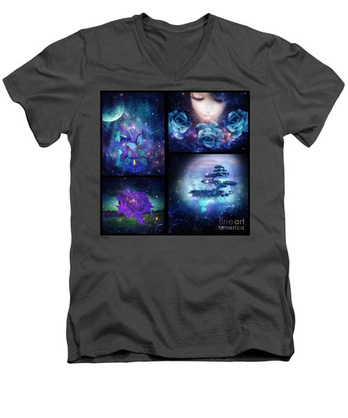 Among The Stars Series Men's V-Neck T-Shirt by Mo T