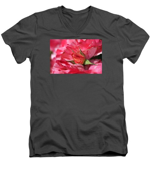 Amongst The Rose Petals Men's V-Neck T-Shirt