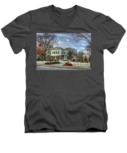 Amos Tuck House In Late Autumn Men's V-Neck T-Shirt