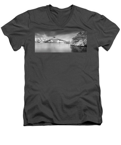 Men's V-Neck T-Shirt featuring the photograph Amritasetu by Sonny Marcyan