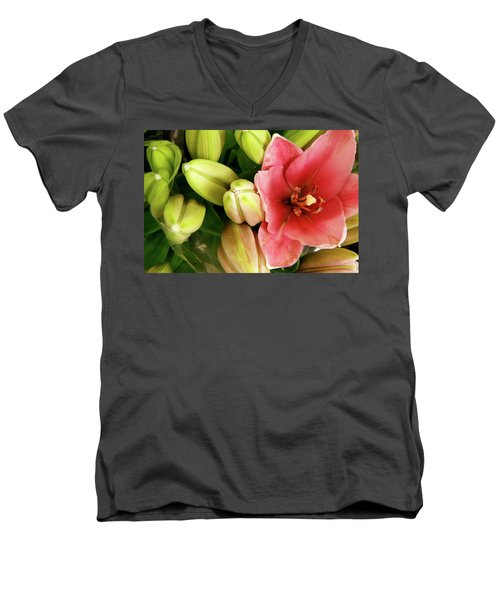 Men's V-Neck T-Shirt featuring the photograph Amsterdam Buds by KG Thienemann