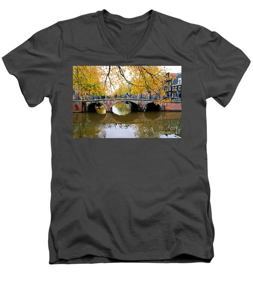 Amsterdam Canal Reflections Men's V-Neck T-Shirt