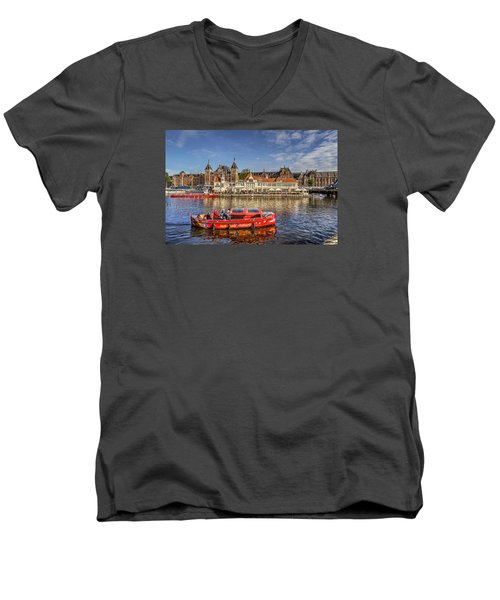 Amsterdam Waterfront Men's V-Neck T-Shirt