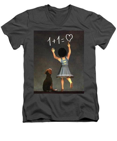 Amy Educating Buddy Math Men's V-Neck T-Shirt