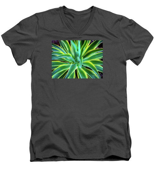 An Agave In Color  Men's V-Neck T-Shirt