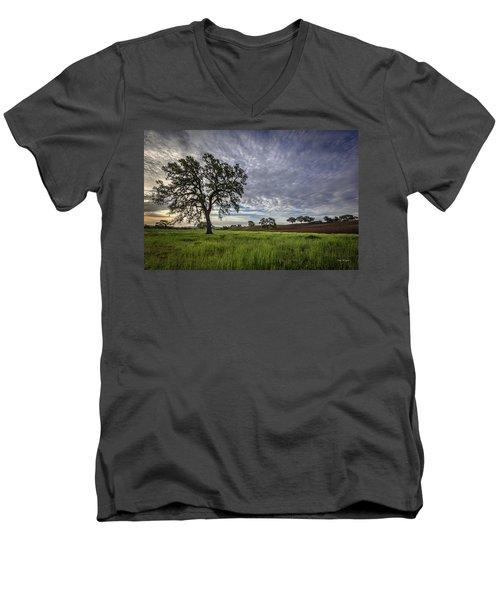 An April Sunday Morning Men's V-Neck T-Shirt