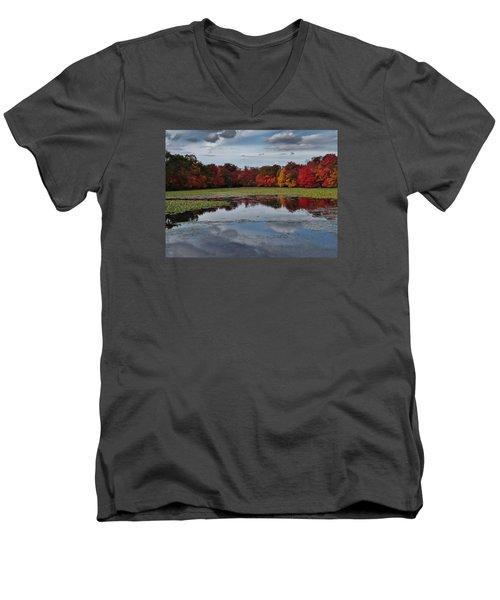 An Autumn Day Men's V-Neck T-Shirt by Mikki Cucuzzo