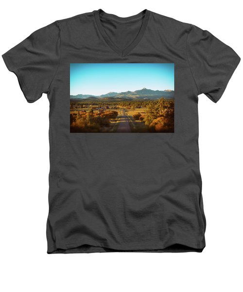 An Autumn Evening In Pagosa Meadows Men's V-Neck T-Shirt by Jason Coward