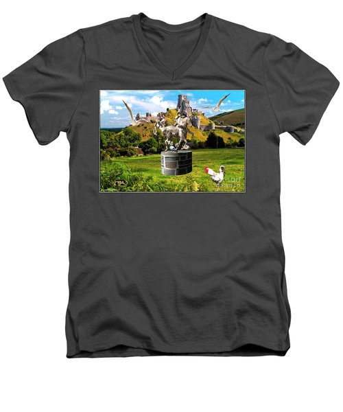 An Echo Of Past Time Men's V-Neck T-Shirt