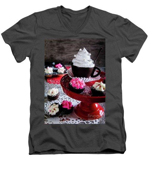 An Evening Out Men's V-Neck T-Shirt by Deborah Klubertanz