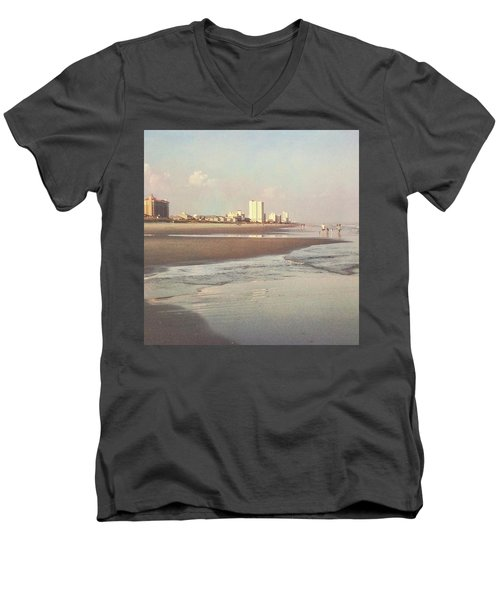 An Evening Walking The Grand Strand Men's V-Neck T-Shirt