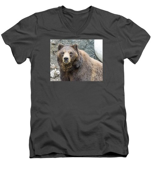 An Eye On You Men's V-Neck T-Shirt by Harold Piskiel