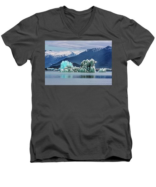 An Iceberg In The Inside Passage Of Alaska Men's V-Neck T-Shirt