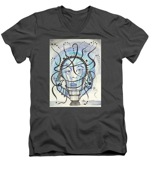 An Idea Men's V-Neck T-Shirt by Darren Cannell