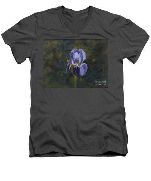 An Iris In My Garden Men's V-Neck T-Shirt
