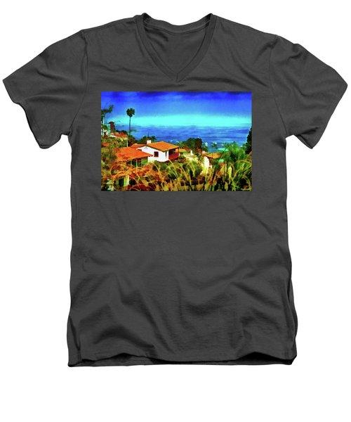 An Ocean View Men's V-Neck T-Shirt