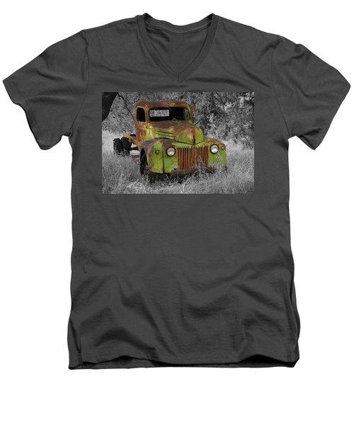 An Old Friend Men's V-Neck T-Shirt by Richard J Cassato