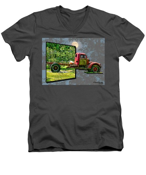 Men's V-Neck T-Shirt featuring the photograph An Old Relic by EricaMaxine  Price