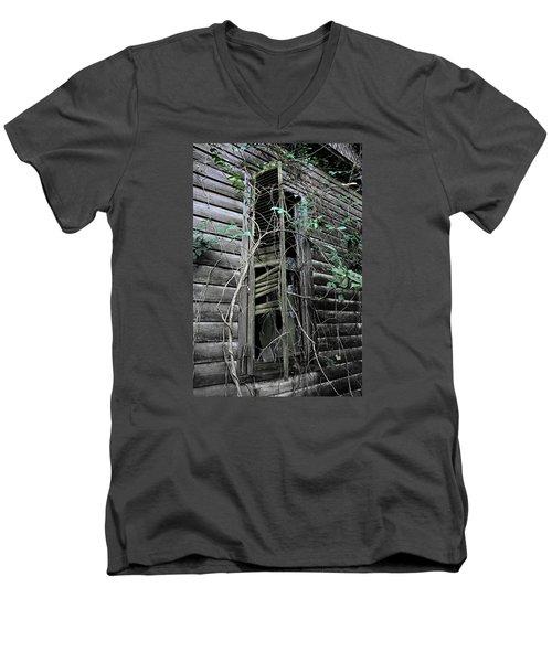 An Old Shuttered Window Men's V-Neck T-Shirt by Lynn Jordan