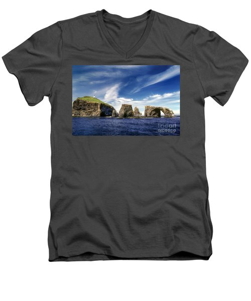 Channel Islands National Park - Anacapa Island Men's V-Neck T-Shirt by John A Rodriguez