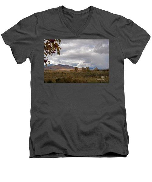 Anaconda Smelter Stack Men's V-Neck T-Shirt by Cindy Murphy - NightVisions