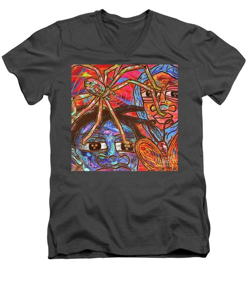 Anansi's Web Men's V-Neck T-Shirt
