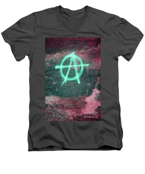Anarchy In Tallinn Men's V-Neck T-Shirt