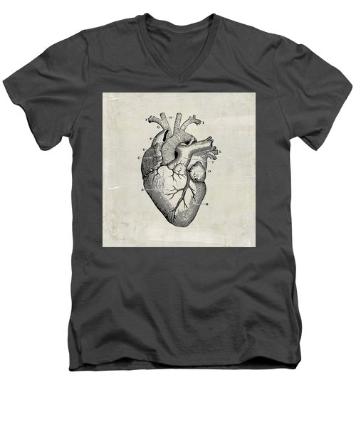 Anatomical Heart Medical Art Men's V-Neck T-Shirt