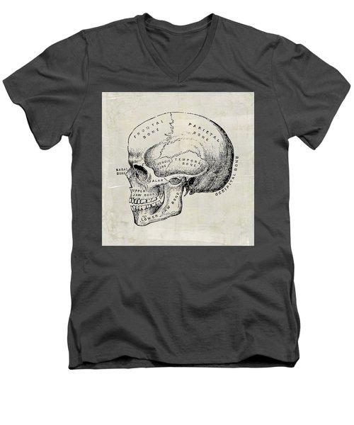 Anatomical Skull Medical Art Men's V-Neck T-Shirt