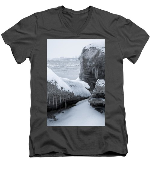 Anchorage In The Icebergs Men's V-Neck T-Shirt