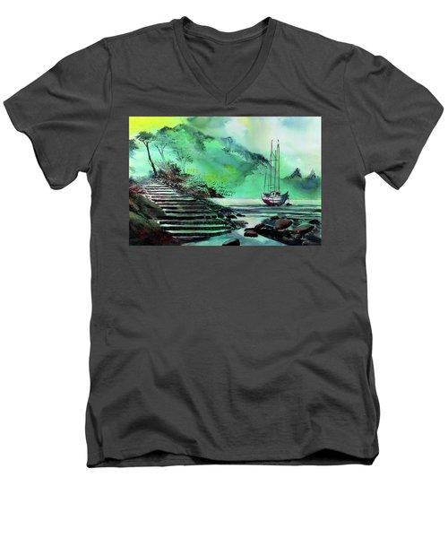 Anchored Men's V-Neck T-Shirt